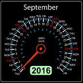 foto of speedometer  - 2016 year calendar speedometer car - JPG
