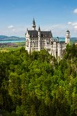 picture of bavarian alps  - Neuschwanstein Castle in the Bavarian Alps - JPG