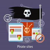 pic of pirate flag  - Homepage of pirate sites with flag concept - JPG