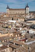 picture of alcatraz  - Overview of medieval city of Toledo with Alcatraz as a focal point - JPG