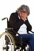 Woman In Wheelchair Crying