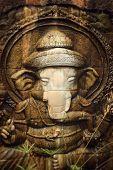 stock photo of ganesh  - Ganesh is revered stone statues  - JPG