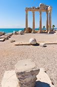 foto of artemis  - Ruins of the ancient  apollon temple in Side - JPG