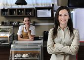 Small Business Team, Owner Of A Cafe Or Waitress
