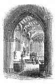 The tomb of William Shakespeare in Church of the Holy Trinity, Stratford-upon-Avon, Warwickshire , E poster