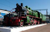 Monument of old steam locomotive