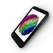 Coloured Mobile fingerprint