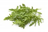 Heap of fresh rocket salad leaves