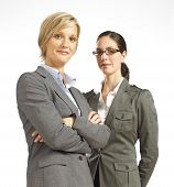 Two Business Woman Looking Confident