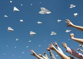 Messages Fly On Paper Airplanes