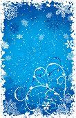 Постер, плакат: Гранж снежинки фон