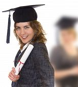 Young Woman Holding Graduate Diploma