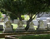 Row of 4 Headstones