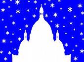 Постер, плакат: Монмартр Базилика Сакре Кер в зимний период