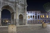 Constantine Arch And Coliseum