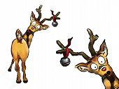 Oh No! Two Christmas Reindeers