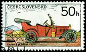 Vintage Postage Stamp. Old-time Classical Cars .2.