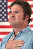 Patriotische amerikanische Mann