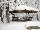 summerhouse in the winter