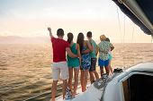 Постер, плакат: Holiday on a sailing yacht