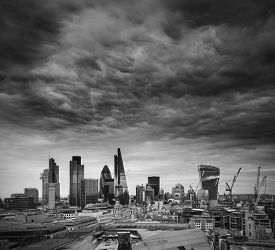 foto of mile  - City of London financial district square mile skyline - JPG