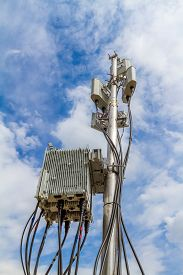 picture of antenna  - temporary micro cellular site with outdoor wifi antenna - JPG