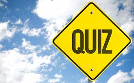 pic of quiz  - Quiz sign with sky background - JPG