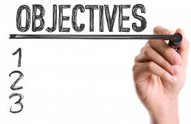 foto of objectives  - Hand with marker writing - JPG