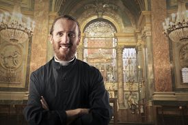 picture of priest  - Smiling priest - JPG