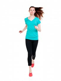 image of hair motion  - front  view of running sport woman - JPG