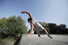 stock photo of parkour  - fitness - JPG