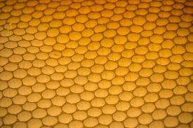 stock photo of honeycomb  - Empty honeycomb background close up - JPG
