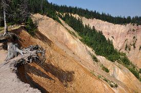 pic of ravines  - Ravine with erosion landscape - JPG