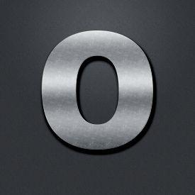 stock photo of zero  - Shabby metal numbers - JPG