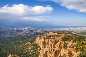 foto of hoodoo  - Bryce canyon with spectacular hoodoos in sunrise - JPG