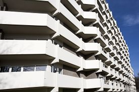 image of social housing  - Apartment block from the 70 - JPG