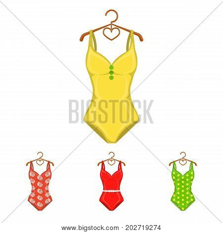 poster of Different kinds of swimsuits. Swimsuits set collection icons in cartoon style vector symbol stock illustration .