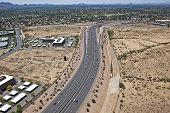 foto of pima  - Aerial view of the Loop 101 Pima Freeway in Scottsdale - JPG
