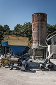 Cement Blocks Equipment. Equipment For The Production Of Cement Blocks In A Small Cement Factory. poster