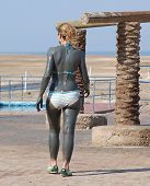 Young Girl On The Dead Sea 2