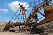 Giant Steel Overburden Excavator Open The Coal Mine