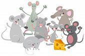 Mice Animal Characters Cartoon poster