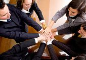 Business Hands Of Teamwork