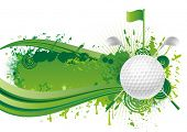 vector golf design elements