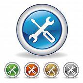 vector tool icon set