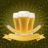 image of alcoholic beverage  - design element for beer - JPG