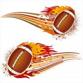 Flamme, US-amerikanischer american-Football-Design-element