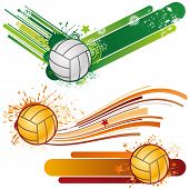 volleyball sport design element