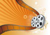 film strip,movie theme illustration