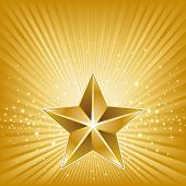 3d star and abstract background